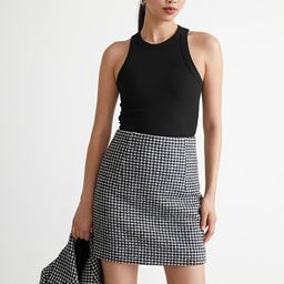 Houndstooth Mini Skirt   & Other Stories