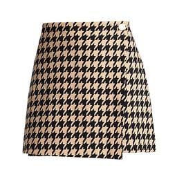 Renna Houndstooth Wrap Mini Skirt   Saks Fifth Avenue