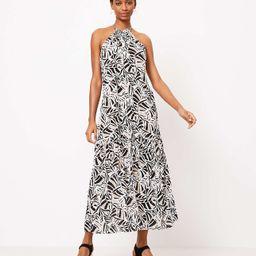 LOFT Beach Leafed Halter Ruffle Maxi Dress | LOFT