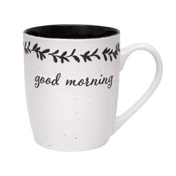 Enchante Good Morning Mug, Black   Kohl's