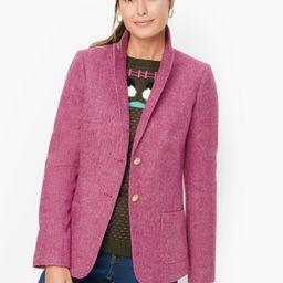 Classic Shetland Blazer - Donegal - Bright Pink | Talbots