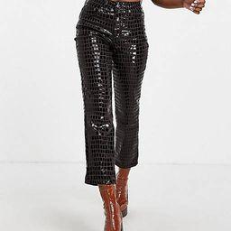 Topshop Straight jean in brown croc | ASOS | ASOS (Global)