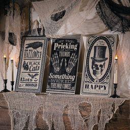 Vintage Halloween Vertical Signs (3) - Home Decor - 3 Pieces - Walmart.com | Walmart (US)