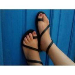 Leather Sandals Greek, Strappy Sandals, Summer Shoes, Handmade Black Flat | Etsy (US)