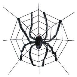 Way to Celebrate Halloween Giant Spider in Web Decor, 8' - Walmart.com | Walmart (US)