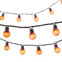 Way to Celebrate Halloween 70-Count Indoor Outdoor Orange LED G30 Globe Lights, with AC Adaptor, ... | Walmart (US)