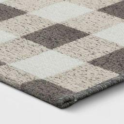"1'8""x2'10"" Harvest Layering Buffalo Plaid Tapestry Doormat Gray - Threshold&#8482...   Target"