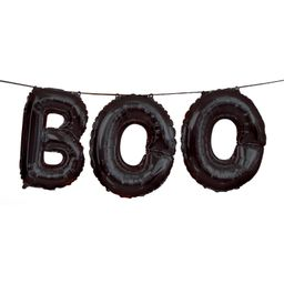 """BOO"" Halloween Letter Balloon Banner Kit, Black - Walmart.com | Walmart (US)"