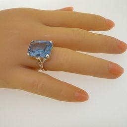 Royal Wedding Ring, Meghan Markle, Princess Diana Ring | 9K Yellow Gold Octagon Cut Synthetic Spi... | Etsy (US)