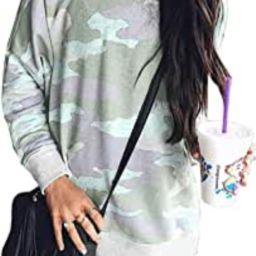 BTFBM Women Sweatshirts Crew Neck Long Sleeve Camouflage Casual Fit Sweatshirt Pullover Tops Shir...   Amazon (US)