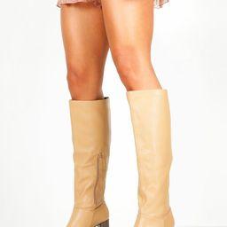 Block Heel Knee High Boots   Boohoo.com (UK & IE)