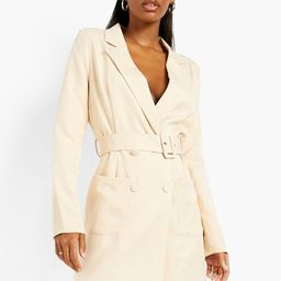 Belted Double Breasted Blazer Dress   Boohoo.com (UK & IE)