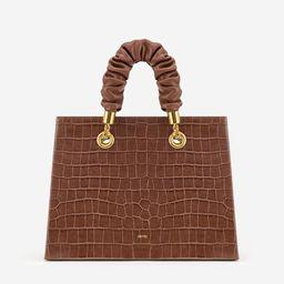 Ella Top Handle Bag - Brown Croc | JW PEI US