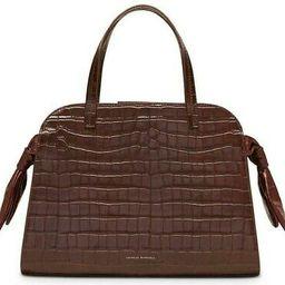 Loeffler Randall Dark Brown Croc Embossed Clarice Satchel Women's Handbag - New! | eBay US