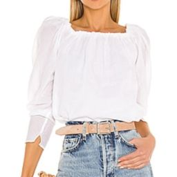 FRAME Off The Shoulder Billow Top in Blanc from Revolve.com   Revolve Clothing (Global)