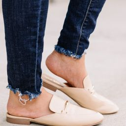 Be Your Own Boss Beige Brown Flat Mules   The Mint Julep Boutique