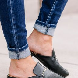 Be Your Own Boss Black Flat Mules   The Mint Julep Boutique