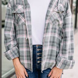 Help You Out Dusty Olive Green Plaid Shacket   The Mint Julep Boutique