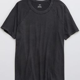Aerie Distressed Raglan Boyfriend T-Shirt | American Eagle Outfitters (US & CA)