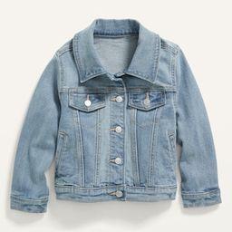 Medium-Wash Stretch Jean Jacket for Toddler Girls | Old Navy (US)