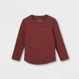 Toddler Boys' Ottoman Knit Long Sleeve T-Shirt - Cat & Jack™   Target