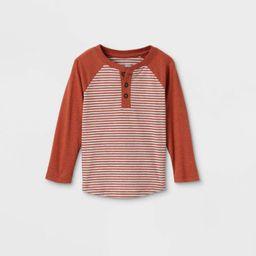 Toddler Boys' Striped Henley Long Sleeve T-Shirt - Cat & Jack™   Target