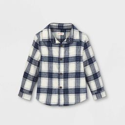 Toddler Boys' Flannel Long Sleeve Button-Down Shirt - Cat & Jack™   Target