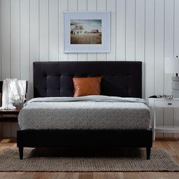 BrooksideTara Black Full Upholstered Bed | Lowe's