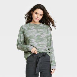 Women's Sweatshirt - Universal Thread™ Camo Print | Target