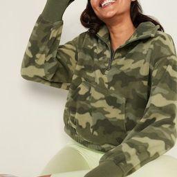 Loose Quarter-Zip Micro Performance Fleece Sweatshirt for Women | Old Navy (US)