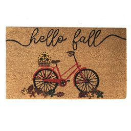 "Farmhouse Living Hello Fall Bike Coir Doormat - 18"" x 30"" - Elrene Home Fashions | Target"