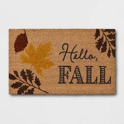 "1'6""x2'6"" Hello Fall Harvest Doormat Brown - Threshold™ | Target"