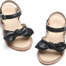 Girl's Toddler/Little Kid Classic Sandals Flat Summer Dress Shoes | Amazon (US)