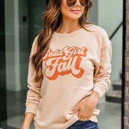 Cold Girl Fall Graphic Sweatshirt | The Pink Lily Boutique