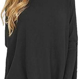 LETSRUNWILD Women's Tunic Tops for Leggings Oversized Shirts Casual Batwing Long Sleeve Loose Fal...   Amazon (US)