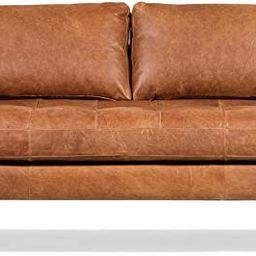"POLY & BARK Napa 88.5"" Sofa in Full-Grain Pure-Aniline Italian Tanned Leather in Cognac Tan | Amazon (US)"