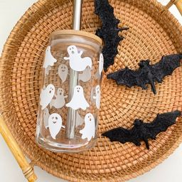 Cute Ghost Beer Can Glass CupSpooky Season Iced Coffee   Etsy   Etsy (US)