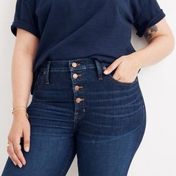 """9"""" Mid-Rise Skinny Jeans in Hayes Wash: Button-Front Edition   Madewell"""