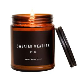 Sweet Water Decor Sweater Weather Candle | Woods, Warm Spice, and Citrus Autumn Scented Soy Candl... | Amazon (US)