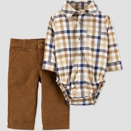 Baby Boys' Plaid Top & Bottom Set - Just One You® made by carter's Brown | Target