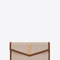 UPTOWN pouch in canvas and smooth leather | Saint Laurent __locale_country__ | YSL.com | Saint Laurent