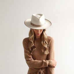Monroe Rancher - Off White / Taupe Trim   Gigi Pip