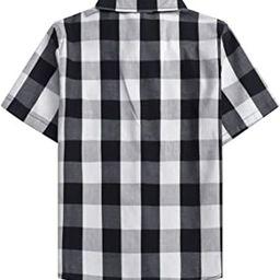 SANGTREE Boys Girls & Adult Short Sleeve Plaid Shirt, 2 Years - 2XL | Amazon (US)
