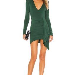 superdown Martyna Deep V Dress in Emerald from Revolve.com | Revolve Clothing (Global)