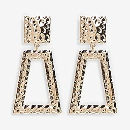 Hammered Gold Trapezoid Earrings | Express