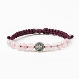 Wake Up and Pray Meditation Bracelet - Rose Quartz | My Saint My Hero