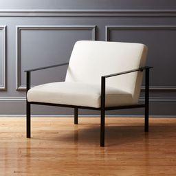 Cue White Chair with Black Legs + Reviews | CB2 | CB2