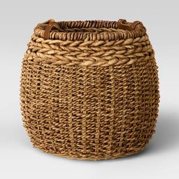 """14"""" x 16"""" Harvest Braided Banana Basket with Leather Handles - Threshold™   Target"""