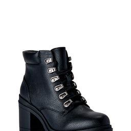 No Boundaries Women's Lace Up Heeled Motto Boots (Wide Width Available) | Walmart (US)