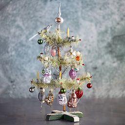 Decorated Feather Mini Christmas Tree   Terrain